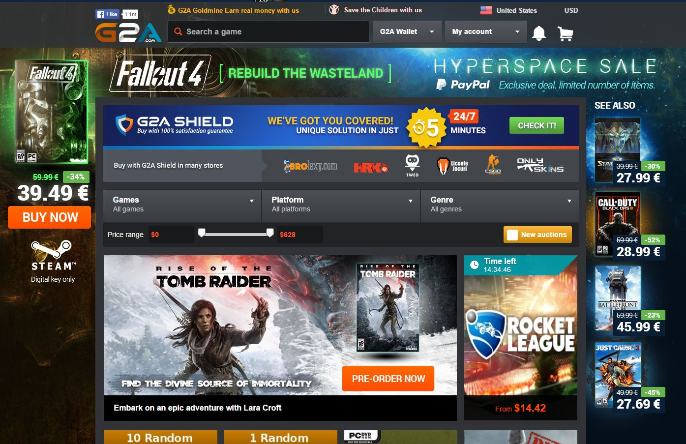 G2A online video game distribution marketplace